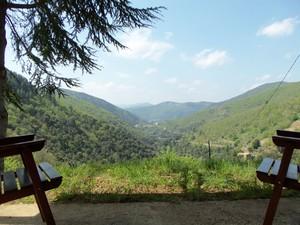 Du gîte ,la vue sur les montagnes...